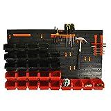 Selection - Panel de almacenamiento de herramientas para montar en la pared (44 piezas)