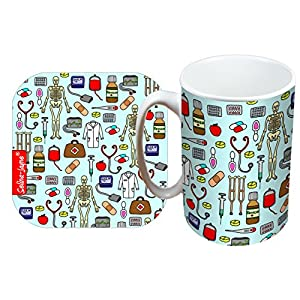 51ZX0RyT0BL. SS300  - Selina-Jayne Doctors Limited Edition Designer Mug and Coaster Gift Set