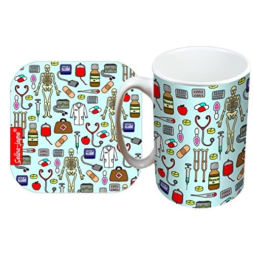 51ZX0RyT0BL. SS500  - Selina-Jayne Doctors Limited Edition Designer Mug and Coaster Gift Set