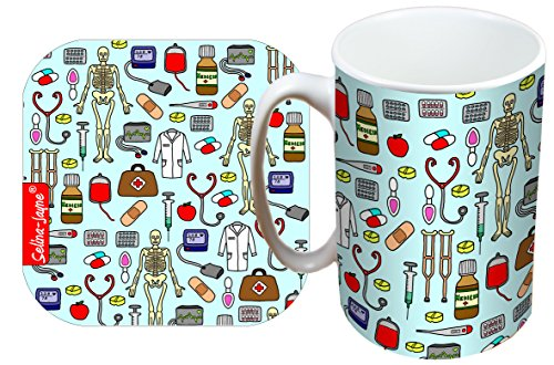 51ZX0RyT0BL - Selina-Jayne Doctors Limited Edition Designer Mug and Coaster Gift Set