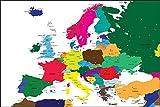 Postereck - Poster 0937 - Politische Karte, Europa Laender
