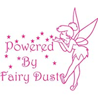 Tinkerbell Style Fairy Car Sticker 'Powered by Fairy Dust' (Indoor/Outdoor) - ukpricecomparsion.eu