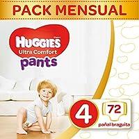 Huggies Ultra Comfort Pañal Braguita Talla 4 (9-14 kg) - 72 pañales braguita