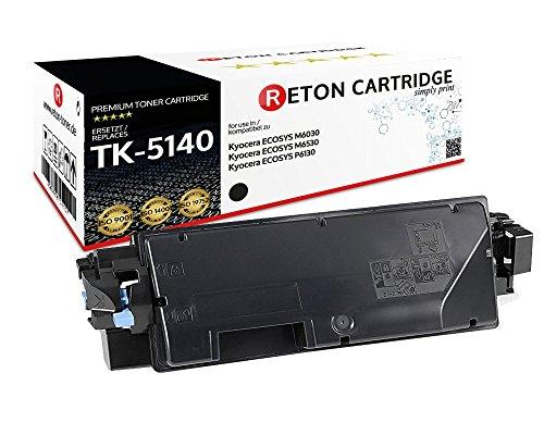 Preisvergleich Produktbild Original Reton Toner / 30% höhere Druckleistung / als Ersatz für Kyocera TK-5140K / 1T02NR0NL0 kompatibel mit : Kyocera ECOSYS M6030,  ECOSYS M6530,  ECOSYS P6130 / Geprüft nach ISO-Norm 19798