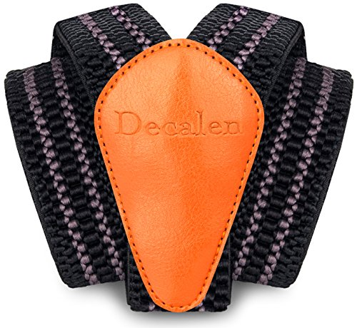 Schwarz Passt Grau (Decalen Hosenträger für Herren breit extra starken Clips Y Form Lang Eine Größe Passt Alle Männer und Damen Verschiedenen Farben (Schwarz Grau 1))