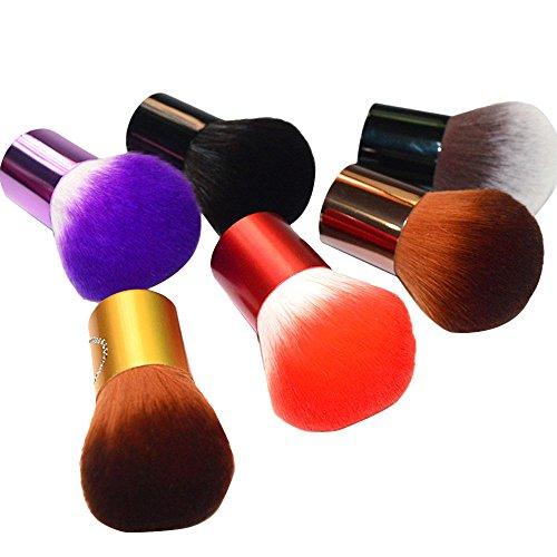 Kashyk 1 x tragbarer Rouge-Pinsel mit kurzem Griff, Gold/Weiß/Braun/Schwarz/Violett/Rot Grundierung/Konturmischung Beauty Tool Cover Gesicht Applikator für Frauen Mädchen -