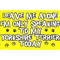 Déjame en paz sólo voy a hablar con mi Yorkshire Terrier perro hoy - Jumbo de imán/regalo