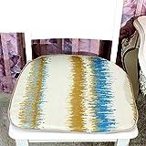 OSHDKSLDS Streifen Stoff Mahlzeit Stuhl pad Schwamm Rutschfeste polsterung verdickung büro sitzkissen-A 45x48cm(18x19inch)