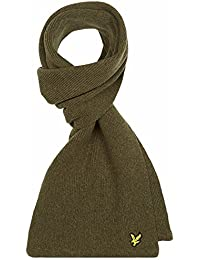 Lyle & Scott Moss Green Racked Ribbed Scarf SV305CL