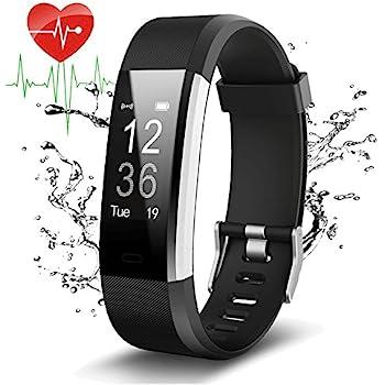 Pulsera Actividad Con GPS,ID115Plus HR Bluetooth Pulsera Intellgente con Ritmo cardiaco,Contador de pasos,Monitor de sueño,IP67 Impermeable,Podómetro ...