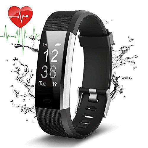 Pulsera Actividad Con GPS,ID115Plus HR Bluetooth Pulsera Intellgente con Ritmo cardiaco,Contador de...