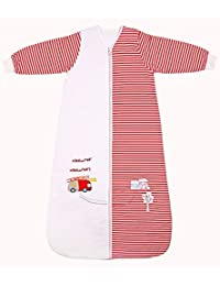 Slumbersac Winter Sleeping Bag Long Sleeves 3.5 Tog - Fire Engine - various sizes: from birth up to 10 years