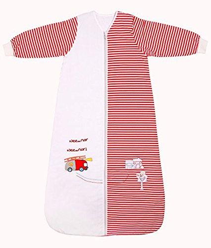 Slumbersac - Saco de dormir de invierno para bebé (manga larga, 3.5 tog, varias tallas: 1-3 años), diseño de bomberos