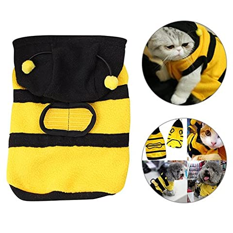 Costumes Dog Bee - Globaldeal Direct Bee Hoodie pour animaux Vêtements