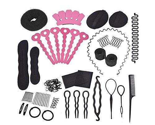 Set 20Donut Haarknoten Maker Mode Haar Design Styling Zubehör Haarnadel Clips Clips Donut Maker Haar Flechten Werkzeug Kit für Damen Mädchen DIY magische Haar Twist Styling Set (Haar-design-kit)