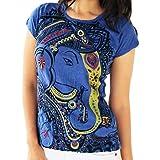 Yoga Tees - Omtimistic mujer dios hindú Ganesh símbolo de OM Camiseta Large