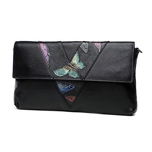 Ledertasche Handtasche, Handtasche, Handtaschen, großvolumige aristokratische Abendessen Paket ( Farbe : Weiß ) Butterfly