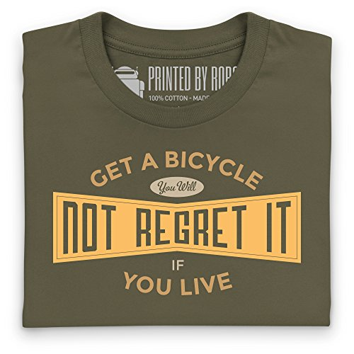 Cycling - Get A Bicycle T-Shirt, Herren Olivgrn