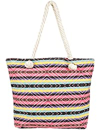 Stripes Patterned Multicolor Hand Bag For Mother's Day
