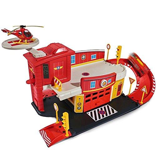 feuerwehrstation dickie Feuerwehrmann Sam - Mini Die Cast Serie - Spiel Set Feuerwehrstation