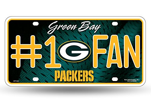 NFL #1 Fan US-Kennzeichen Metall-Schild Green Bay Packers