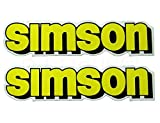 2x Aufkleber Schriftzug SIMSON gelb S51 Tank BJ-Handel