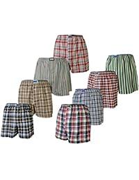 4, 8 oder 12 Stück lockere, gewebte Boxershorts; größtenteils karierte Boxer; loose fit american Style Größen S/4 bis XXL/8 lieferbar
