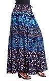 Kastiel Printed Women's Regular Blue Skirt