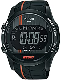 Pulsar Herren-Armbanduhr Digital Quarz Kautschuk PV4009X1