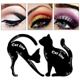Eye Liner Schablone, Katze Eye Liner Makeup Stencil, Augen Eyeliner Shaper, 2 Schablonen für perfekte Cat-Eyeliner und Smokey-Eyes, Augenbrauen-Vorlage, Makeup-Karte