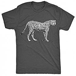 8TN Black and White Cheetah_vectorized Unisex-children T Shirt - Charcoal - XS (5-6 Years) from 8TN