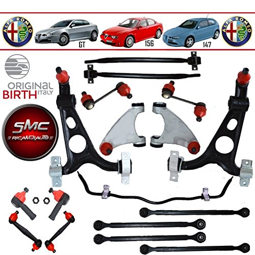 KIT 17PZ BIRTH BRAZOS SUSPENSION ANT + POST BARRA CABEZALES DIRECCION ALFA ROMEO 156