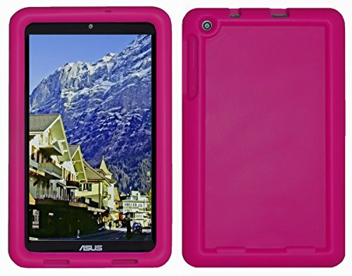 Bobj Silikon-Hulle Heavy Duty Tasche fur ASUS MeMO Pad 8 Tablette (ME181C, ME181CX, K011, MG8, MG181C, MG181CX) und ASUS VivoTab 8 (M81C, K01G) - BobjGear Schutzhulle (Himbeere)