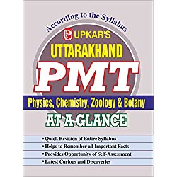 Uttarakhand PMT Physics, Chemistry, Zoology & Botany- At A Glance