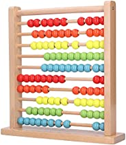 Zerodis Ábaco de Madera Juguete Ábaco, Juguete de Desarrollo Cálculo para Niños Juguete de Matemáticas Aprendi