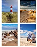 PICSonPAPER Poster 4er-Set Nord- und Ostsee, ungerahmt Din