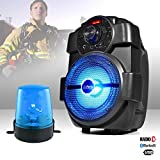 Lautsprecher Karaoke Mobile 180W–USB/Bluetooth/Radio + Blaulicht