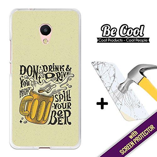 BeCool® - Custodia Cover [ Flessibile in Gel ] per Meizu M5s [ +1 Pellicola Protettiva Vetro ] Ultra Sottile Silicone,protegge e si adatta alla perfezione al tuo Smartphone. Non buttare la tua birra.