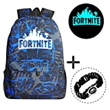 Gorgebuy Luminous Backpack - Galaxy Schoolbag Brillo en la Mochila Oscura Mochila Laptop Book Satchel Bolsa de Senderismo Boys Girls Bonus 1 pc Cool Bracelet