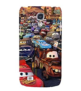 Printvisa Animated Human Cars Back Case Cover for Samsung Galaxy S4::Samsung Galaxy S4 i9500