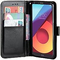 Raiphy Funda Para LG Q6 ,Funda Protectora de Cuero con una Ranura para tarjetas y