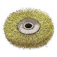 80 mm Diámetro de la forma redonda de alambre de acero prensado de ruedas cepillos de pulido