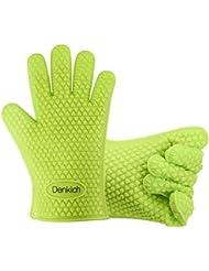 Guantes de barbacoa,Denkich guantes de cocina, para barbacoas, cocinar, lavar, guantes multifuncionales