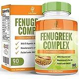 Fenugreek - Complex with Magnesium - Zinc - L Arginine - 1320 mg - Gluten Free, 90 Capsules (3 Month Supply) by Earths Design