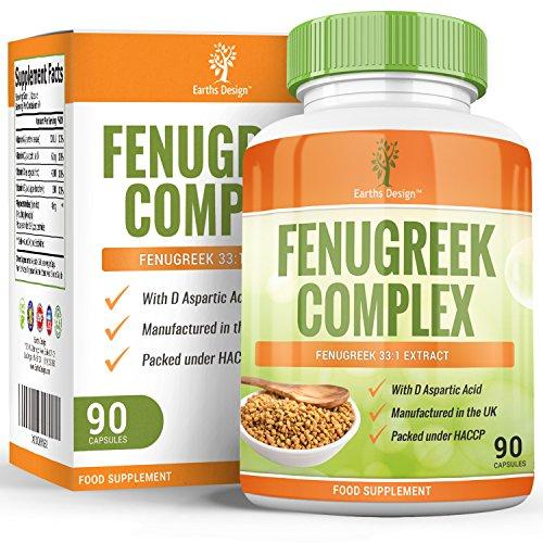 Fenugrec - Complexe avec Magnésium - Zinc - L-Arginine - 1320 mg - Sans Gluten, 90 Capsules (3 Mois d'Approvisionnement) de Earths Design