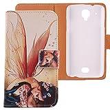 Lankashi PU Flip Leder Tasche Hülle Case Cover Schutz Handy Etui Skin Für MOBIWIRE Ahiga Wing Girl Design