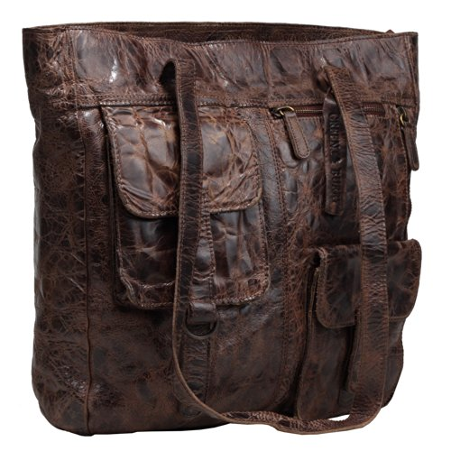 Billy the Kid Avery Sac à main porté épaule cuir 34 cm chocolate