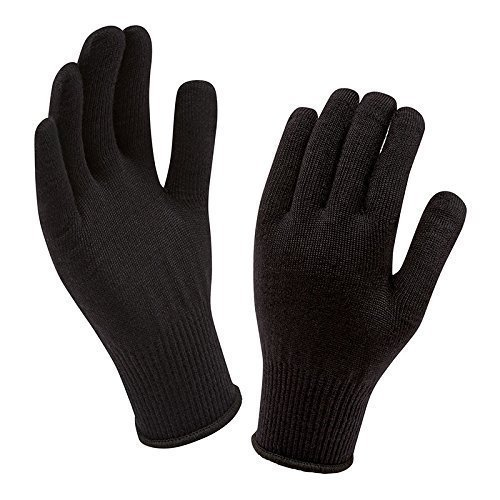 SellnShip Woolen Hand Gloves Stretchable Woollen Men Women Girls Boys Unisex Warm Winter Wool Biker Mittens FreeSize Black
