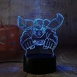 LISAY Cool Super Hero Spider iron Hulk Deadpool 3D LED Lámpara Luz nocturna...