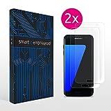 Galaxy S7 edge Schutzfolie [2 Stück] Panzerfolie volle Abdeckung [HD-Klar] einfache blasenfreie Aufbringung [Displayschutzfolie transparent] KEIN Glas Schutzglas sondern Samsung S7edge Folie